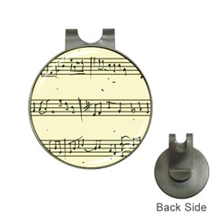 Music Notes On A Color Background Hat Clips With Golf Markers