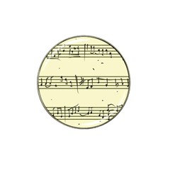 Music Notes On A Color Background Hat Clip Ball Marker (4 Pack)