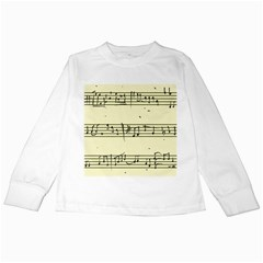 Music Notes On A Color Background Kids Long Sleeve T Shirts