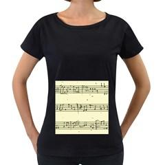 Music Notes On A Color Background Women s Loose Fit T Shirt (black)