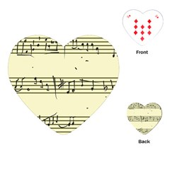 Music Notes On A Color Background Playing Cards (Heart)
