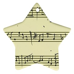 Music Notes On A Color Background Star Ornament (Two Sides)