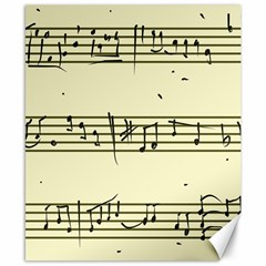 Music Notes On A Color Background Canvas 8  X 10