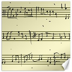 Music Notes On A Color Background Canvas 12  x 12