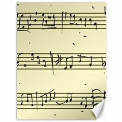 Music Notes On A Color Background Canvas 36  X 48