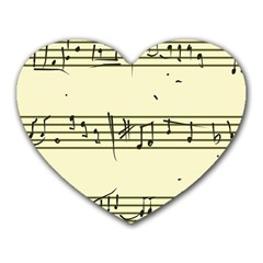 Music Notes On A Color Background Heart Mousepads