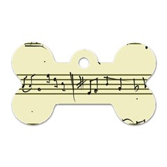 Music Notes On A Color Background Dog Tag Bone (One Side)