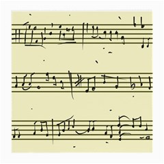 Music Notes On A Color Background Medium Glasses Cloth