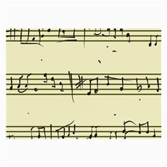Music Notes On A Color Background Large Glasses Cloth (2-Side)