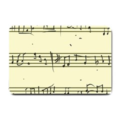 Music Notes On A Color Background Small Doormat