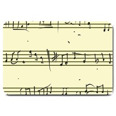 Music Notes On A Color Background Large Doormat