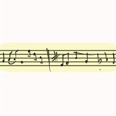 Music Notes On A Color Background Large Bar Mats