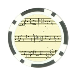 Music Notes On A Color Background Poker Chip Card Guard