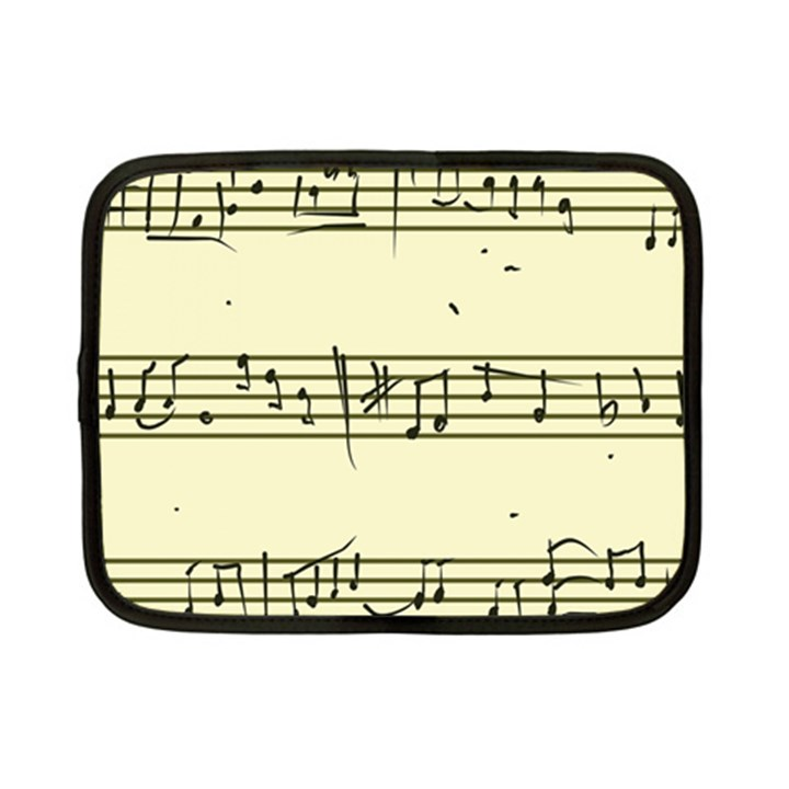 Music Notes On A Color Background Netbook Case (Small)
