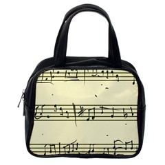 Music Notes On A Color Background Classic Handbags (One Side)