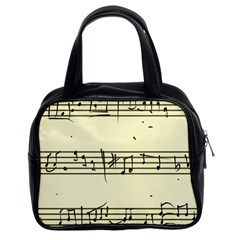 Music Notes On A Color Background Classic Handbags (2 Sides)