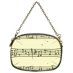 Music Notes On A Color Background Chain Purses (one Side)