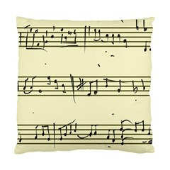 Music Notes On A Color Background Standard Cushion Case (two Sides)