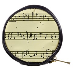 Music Notes On A Color Background Mini Makeup Bags