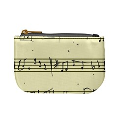 Music Notes On A Color Background Mini Coin Purses