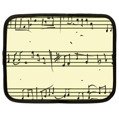 Music Notes On A Color Background Netbook Case (xxl)