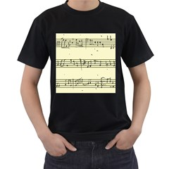 Music Notes On A Color Background Men s T-Shirt (Black)