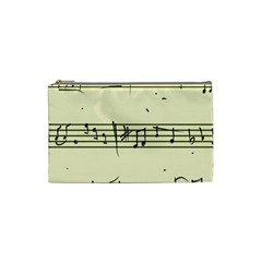 Music Notes On A Color Background Cosmetic Bag (small)