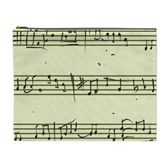 Music Notes On A Color Background Cosmetic Bag (XL)