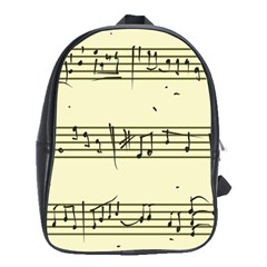 Music Notes On A Color Background School Bags(large)