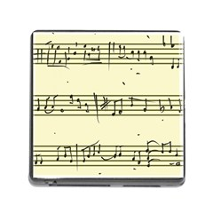 Music Notes On A Color Background Memory Card Reader (square)