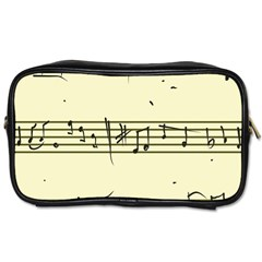 Music Notes On A Color Background Toiletries Bags