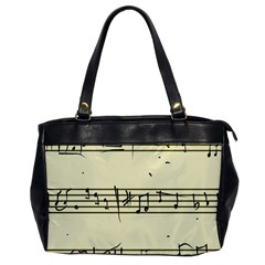 Music Notes On A Color Background Office Handbags