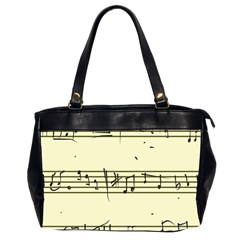 Music Notes On A Color Background Office Handbags (2 Sides)