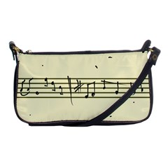 Music Notes On A Color Background Shoulder Clutch Bags