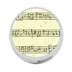Music Notes On A Color Background 4 Port Usb Hub (one Side)