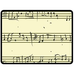Music Notes On A Color Background Fleece Blanket (Large)