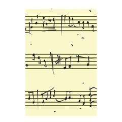Music Notes On A Color Background Shower Curtain 48  x 72  (Small)