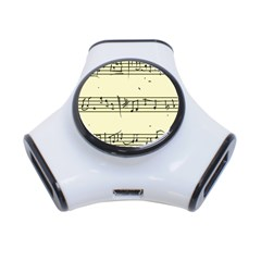 Music Notes On A Color Background 3-Port USB Hub