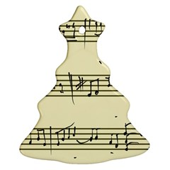 Music Notes On A Color Background Ornament (Christmas Tree)