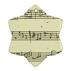 Music Notes On A Color Background Snowflake Ornament (Two Sides)