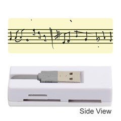 Music Notes On A Color Background Memory Card Reader (Stick)