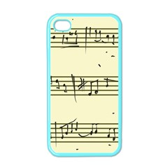 Music Notes On A Color Background Apple iPhone 4 Case (Color)