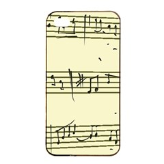 Music Notes On A Color Background Apple Iphone 4/4s Seamless Case (black)