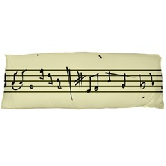 Music Notes On A Color Background Body Pillow Case (dakimakura)