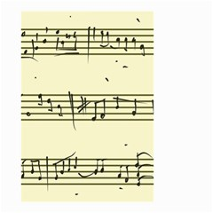 Music Notes On A Color Background Small Garden Flag (two Sides)
