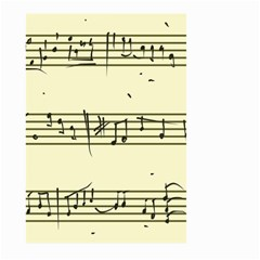 Music Notes On A Color Background Large Garden Flag (Two Sides)