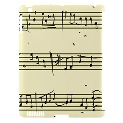 Music Notes On A Color Background Apple iPad 3/4 Hardshell Case (Compatible with Smart Cover)