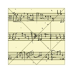 Music Notes On A Color Background Acrylic Tangram Puzzle (6  x 6 )