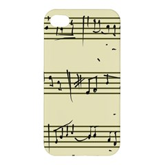 Music Notes On A Color Background Apple iPhone 4/4S Premium Hardshell Case