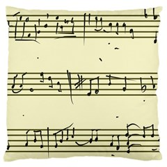 Music Notes On A Color Background Large Cushion Case (One Side)
